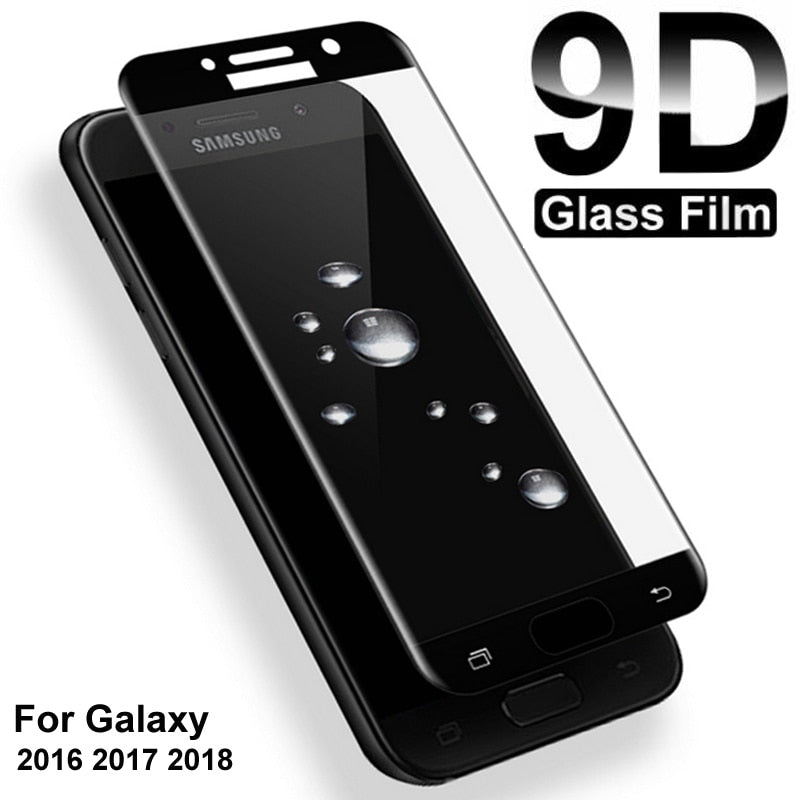 9D Protective Glass For Samsung Galaxy S7 A3 A5 A7 J3 J5 J7 2016 2017 Screen Protector A6 A8 J4 J6 Plus J2 J8 A9 2018 Glass Film