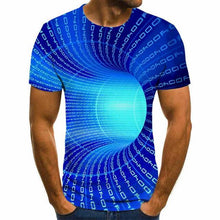 Load image into Gallery viewer, 2021 Fashion Casual Short Sleeve Three-Dimensional Vortex Men T-Shirt 3D Printed Summer O-Neck Daily Casual Funny T-Shirts