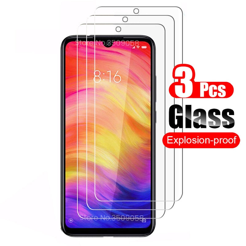 for xiaomi mi 10t pro poco m3 x3 redmi 9c nfc 9a glass 3Pcs protective glas readmi note 9s 9t 9 8 7 8t 8a screen protectors film