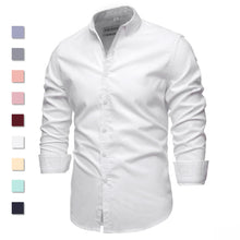 Load image into Gallery viewer, 9 Colors 2021New 100% Cotton Oxford Shirt Men Spring Casual Men Shirt Long Sleeve  Slim Fit Dress Shirts Men's Social Shirt