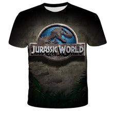 Load image into Gallery viewer, 2020 Jurassic World Fallen Kingdom Cool Dinosaur Head 3D Print T shirt  Boys and girls Hiphop Tee Tshirt Boy color Clothes Drop