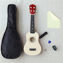 Load image into Gallery viewer, 21-Inch Wood Ukulele Christmas Gift Ukulele Children Four-String Small Guitar Color Ukulele  Guitar  Travel Guitar Ukulele Kit
