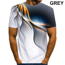 Load image into Gallery viewer, Men 3D Printed T-Shirt Personality Lightning T Shirt Short Sleeve Casual T Shirt 2021 New Summer Fashion T-Shirt