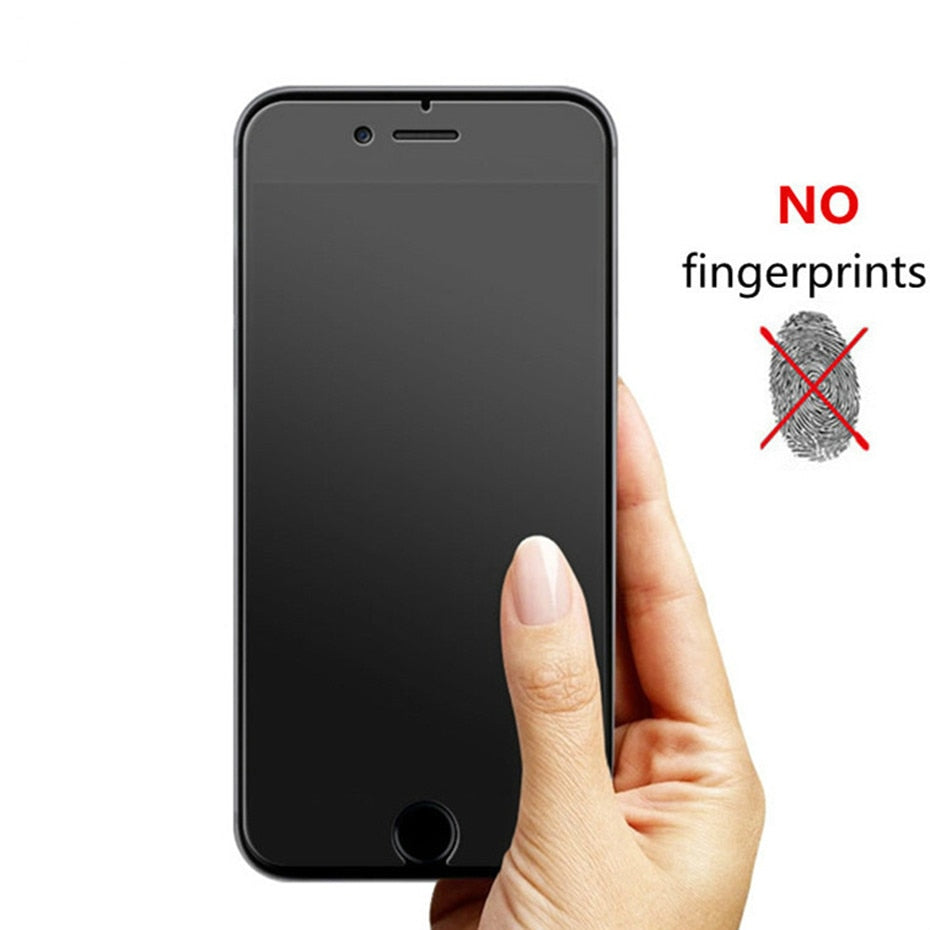 No fingerprint screen protector for iphone 11 12 7 8 6 6s Pro XS Max plus matte tempered glass on iphone X XR SE 2020
