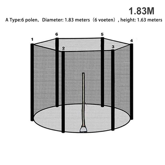 Trampoline supplies Enclosure Durable Safe Nylon Trampoline Protectio Net Outdoor Children Injury Prevention trampoline for kids