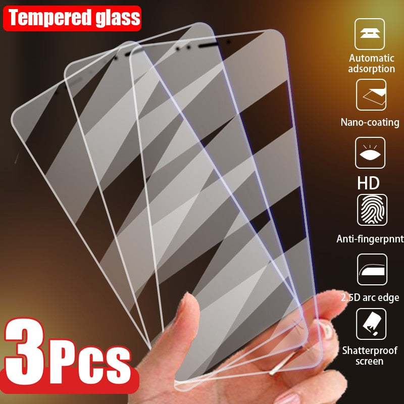 3PCS Tempered Glass for Redmi Note 9 Pro Screen Protector Glass for Xiaomi Redmi Note 7 8 9S 9A 9C 9T 8T 8A 7A 5 5A Phone Glass