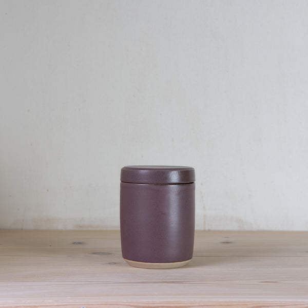 Julie Damhus lidded jar lilla