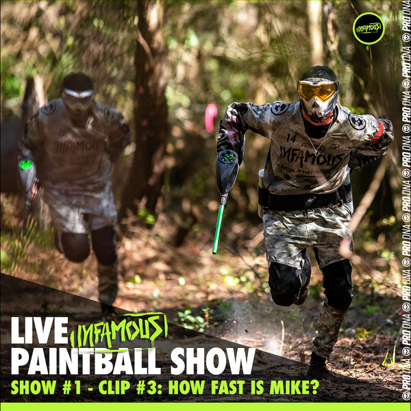 How Fast Is Mike Waring? Infamous Live Paintball Show #1 (Clip)