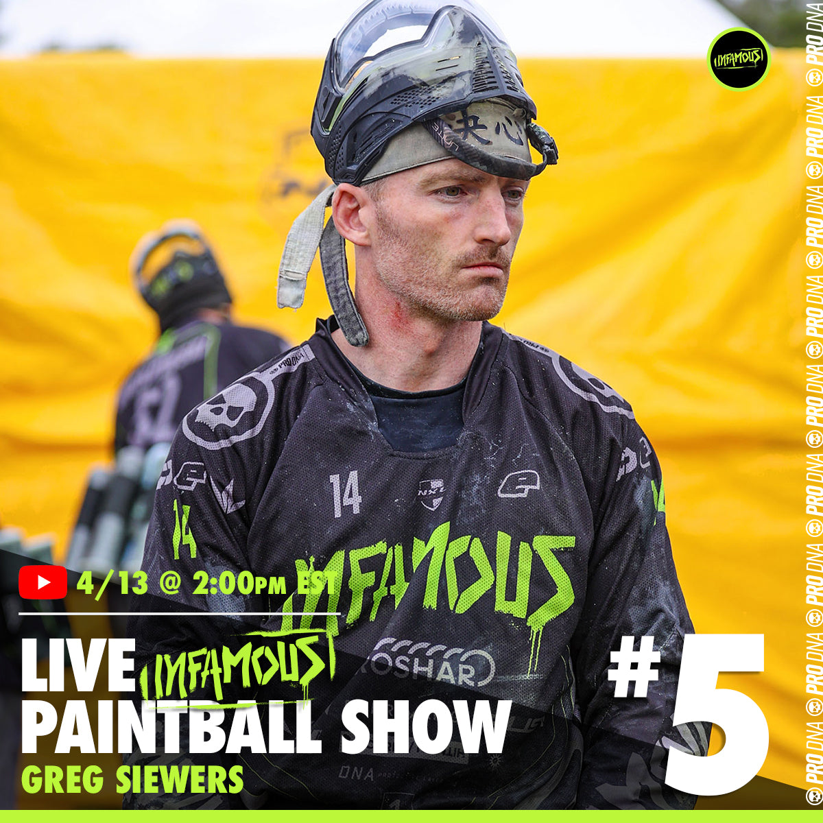 Infamous Live Paintball Show #5 - Greg Siewers