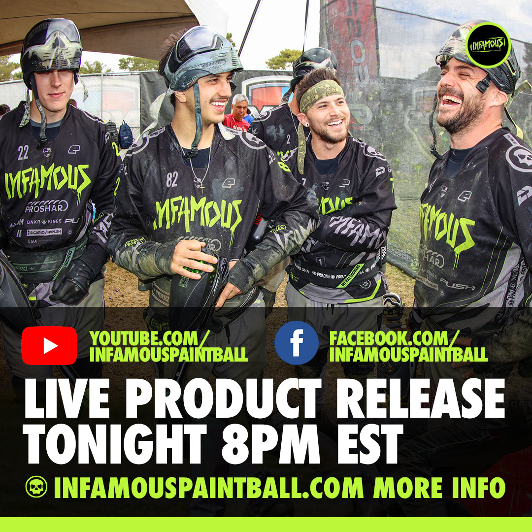 Infamous Live Paintball Show #1 - Skeleton Air Tank Release