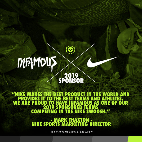 NIKE SPONSORS INFAMOUS IN 2019