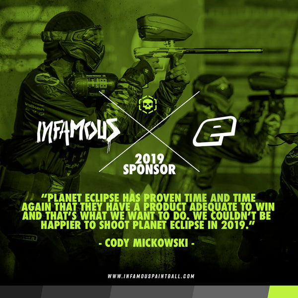 Planet Eclipse Sponsors Infamous in 2019