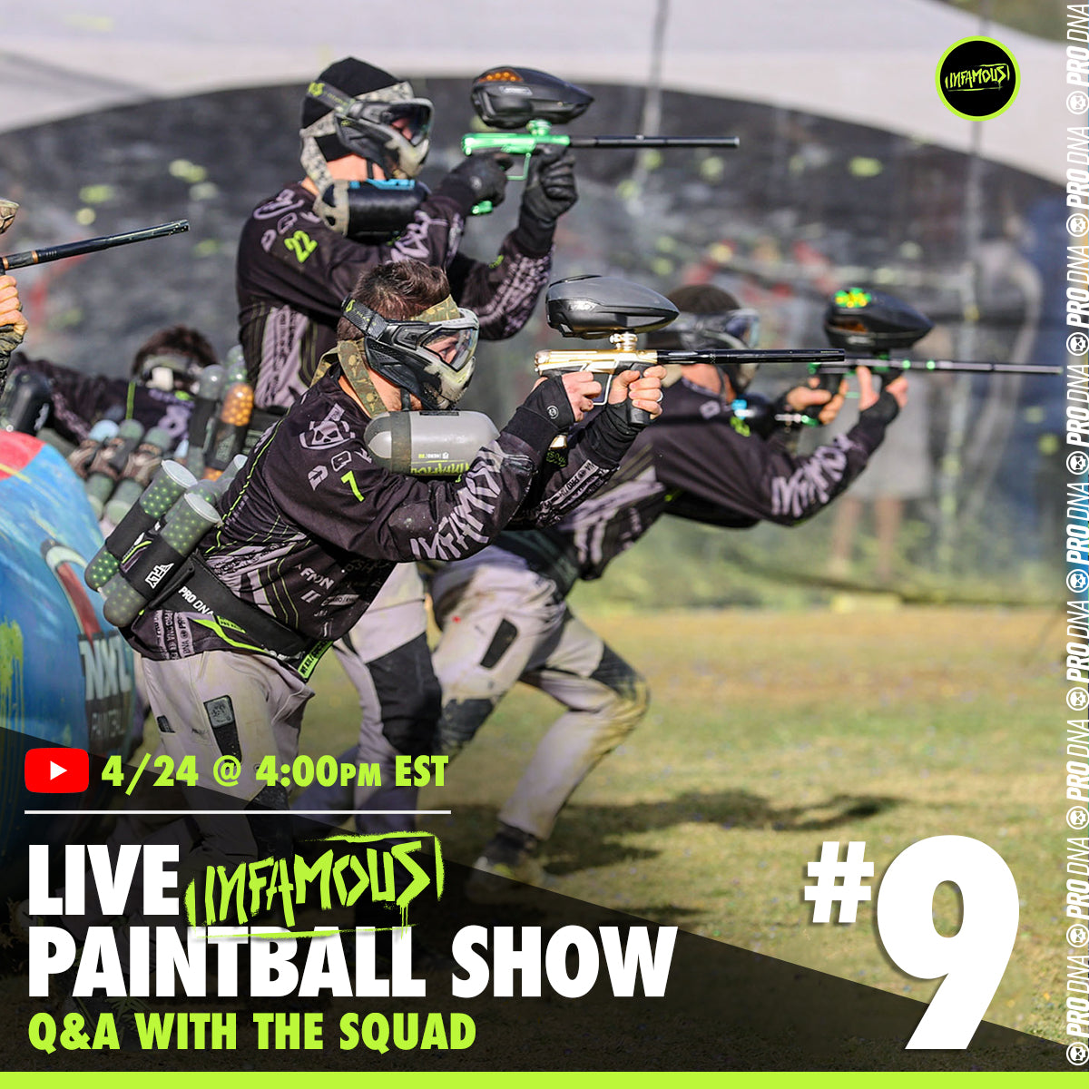 Infamous Live Paintball Show #9 - w/ The Team