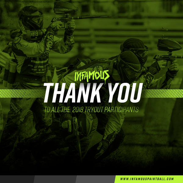 THANK YOU - 2018 Infamous Pro Tryout