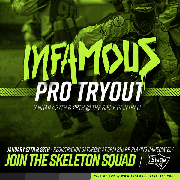 Infamous Pro Team Tryouts