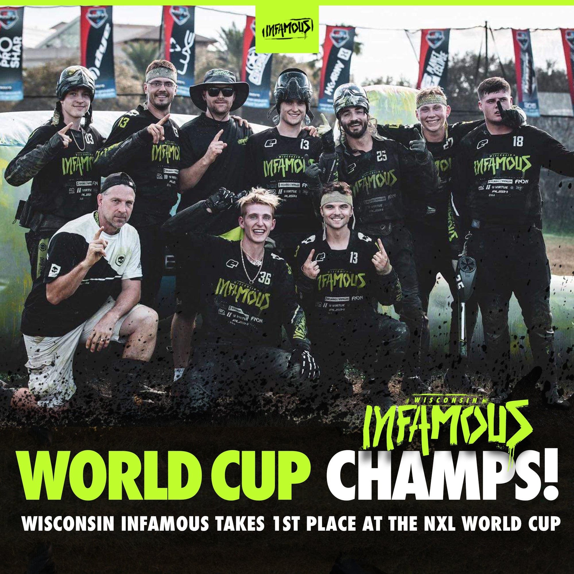 1st Place World Cup 2019 - Wisconsin Infamous