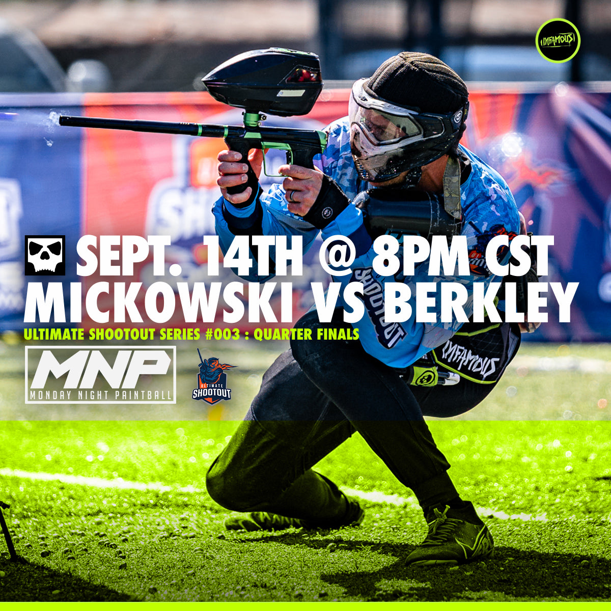 Cody Mickowski vs Berkley on Monday Night Paintball