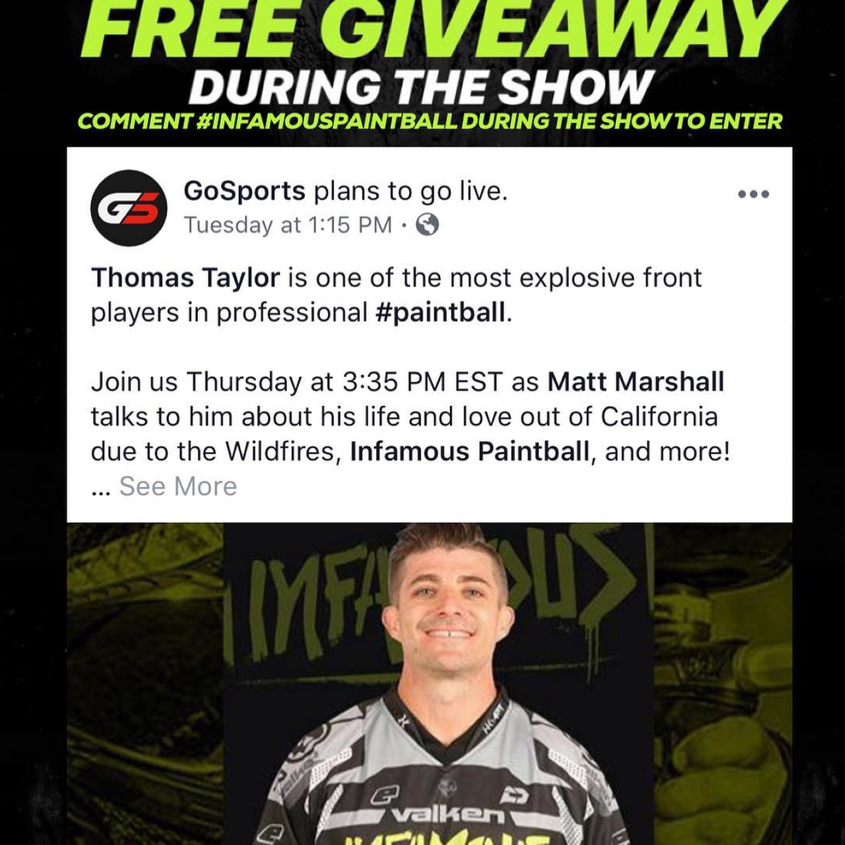 Thomas Taylor LIVE on Gosports - FREE GIVEAWAY