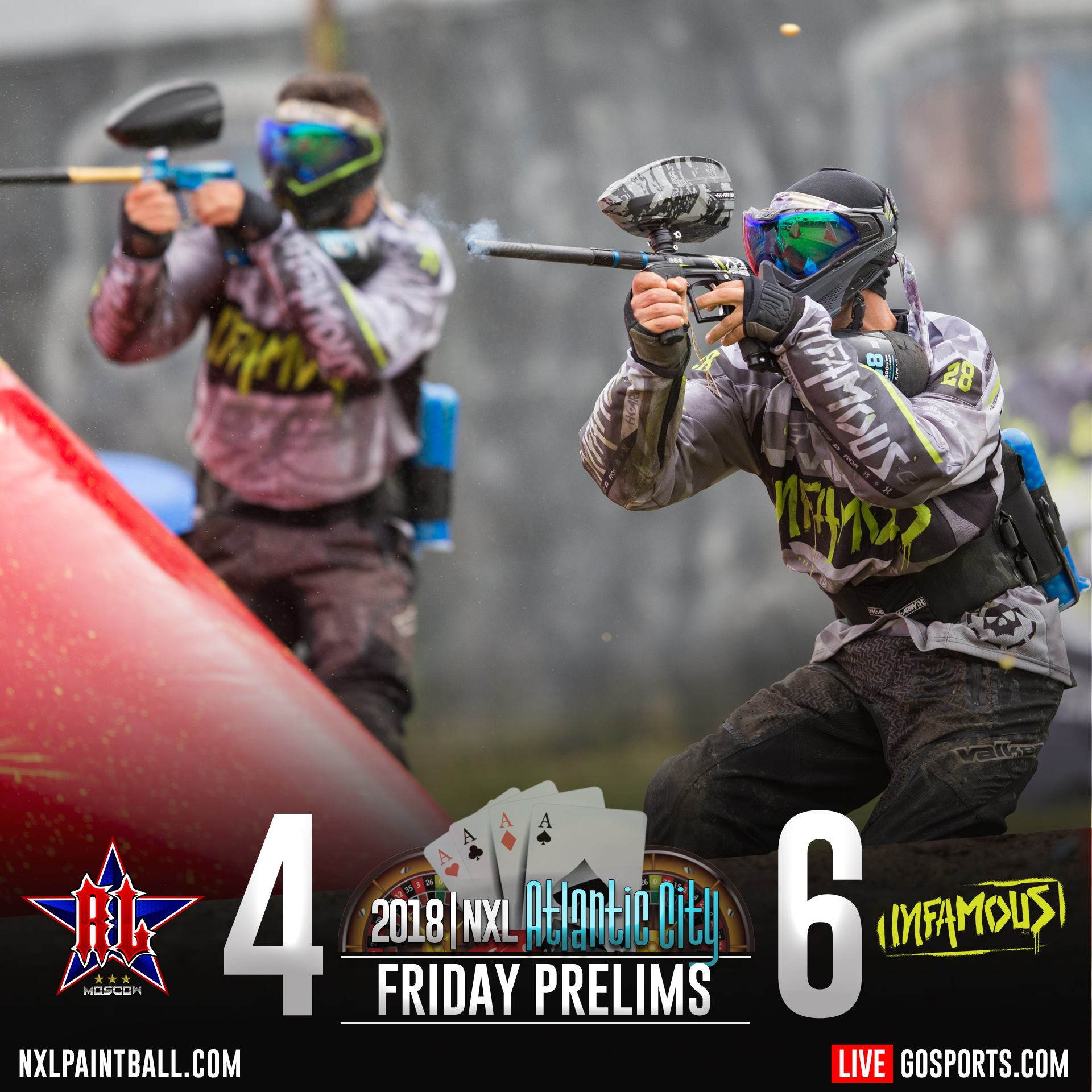 Infamous vs Russian legion NXL Atlantic City 2018