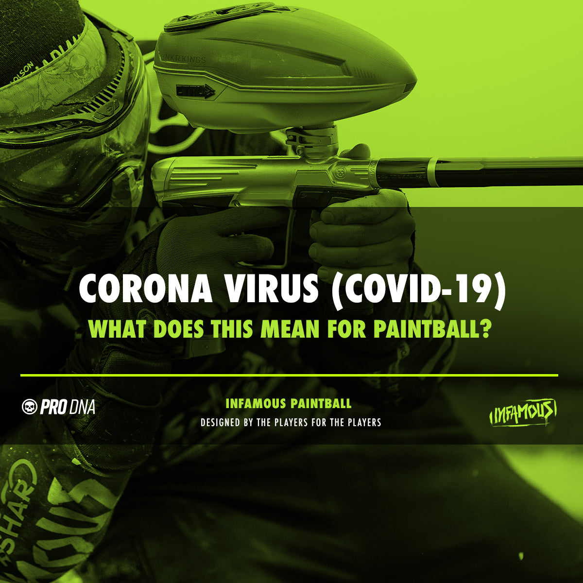 Paintball Corona Virus COVID-19 NXL Infamous Paintball