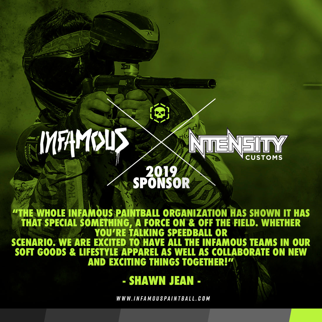 Infamous Ntensity Sponsorship 2019