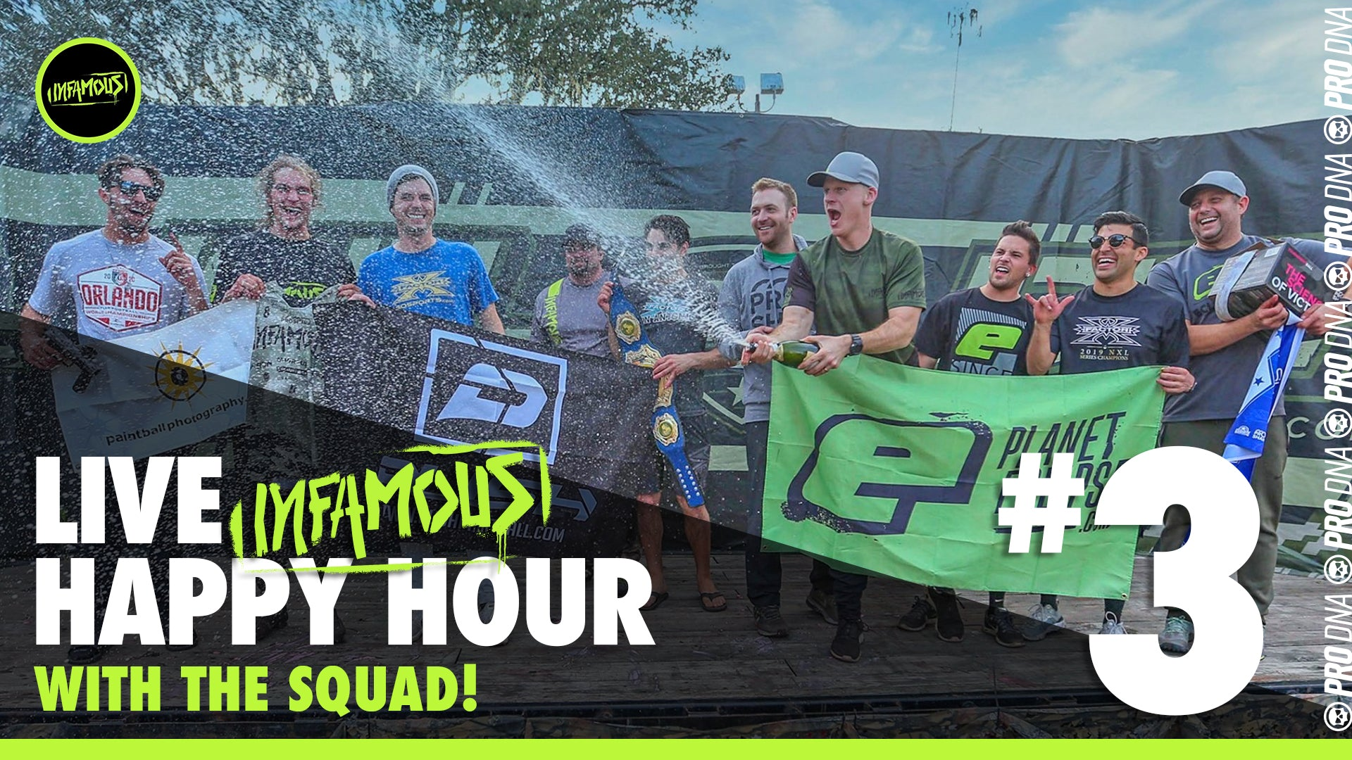 happy hour live show with infamous paintball chris Lasoya