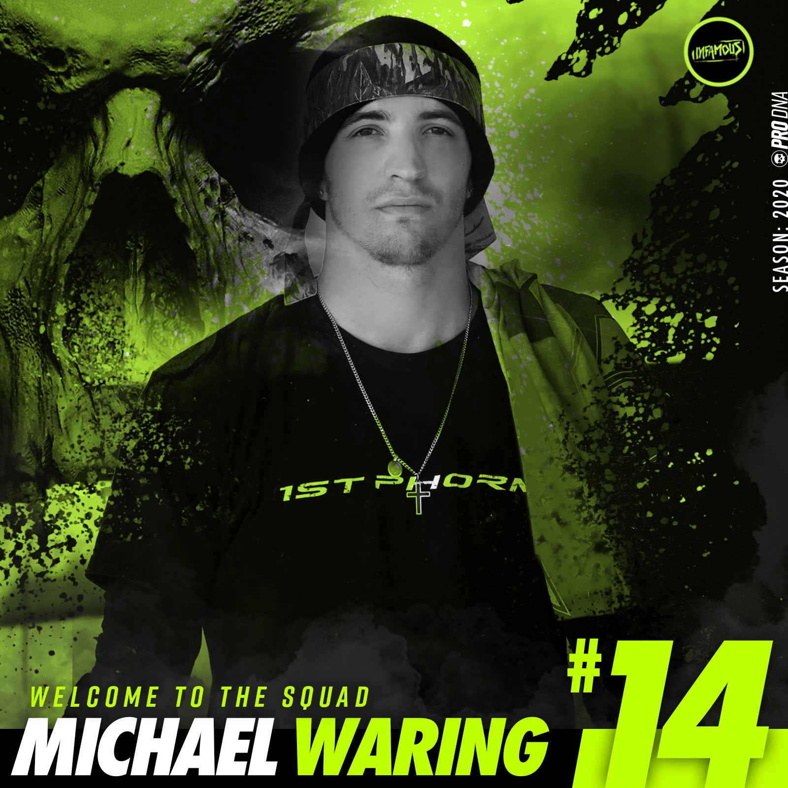 MICHAEL WARING signs with infamous for 2020 season