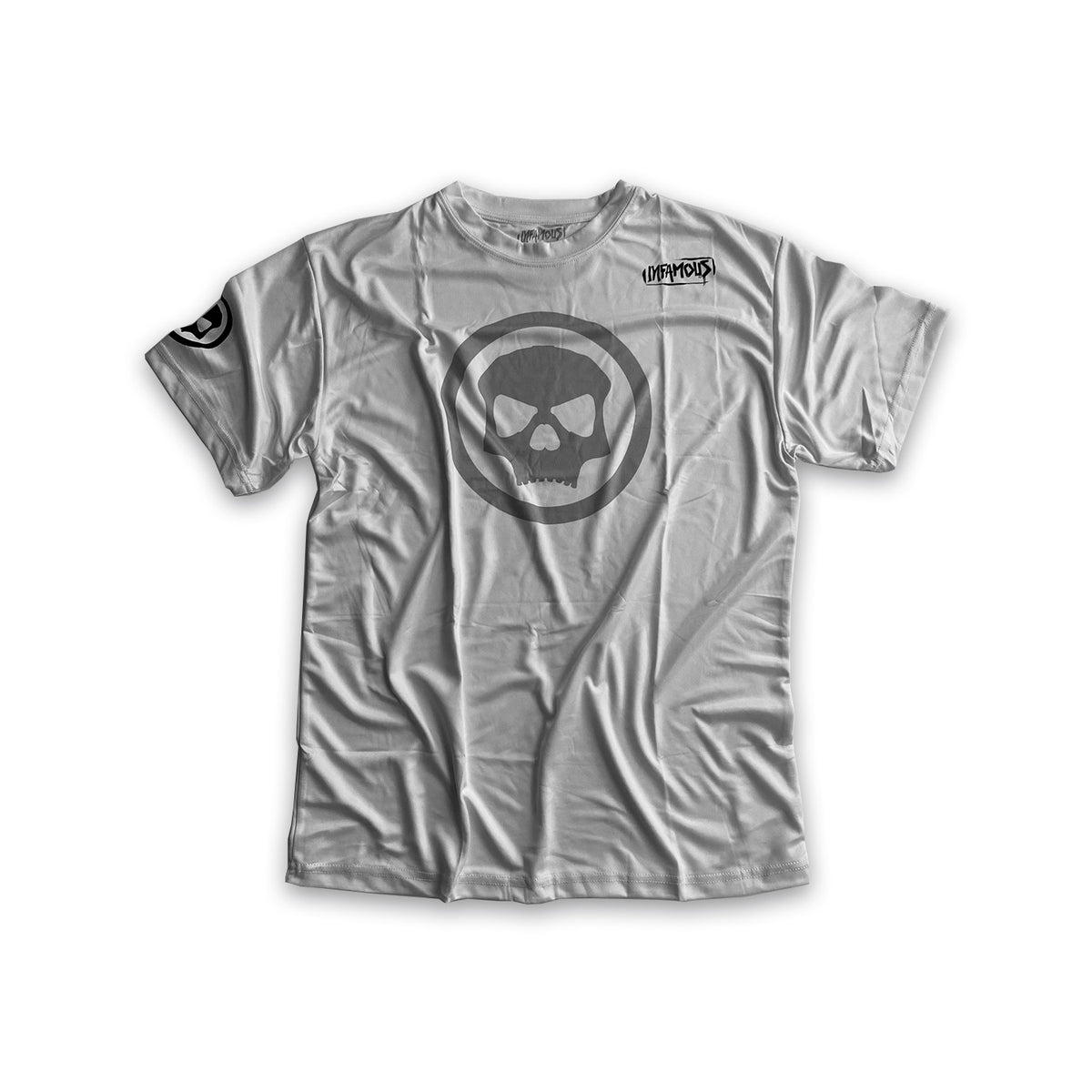 Infamous DryFit Tech T-Shirt - Loyalty White/Grey