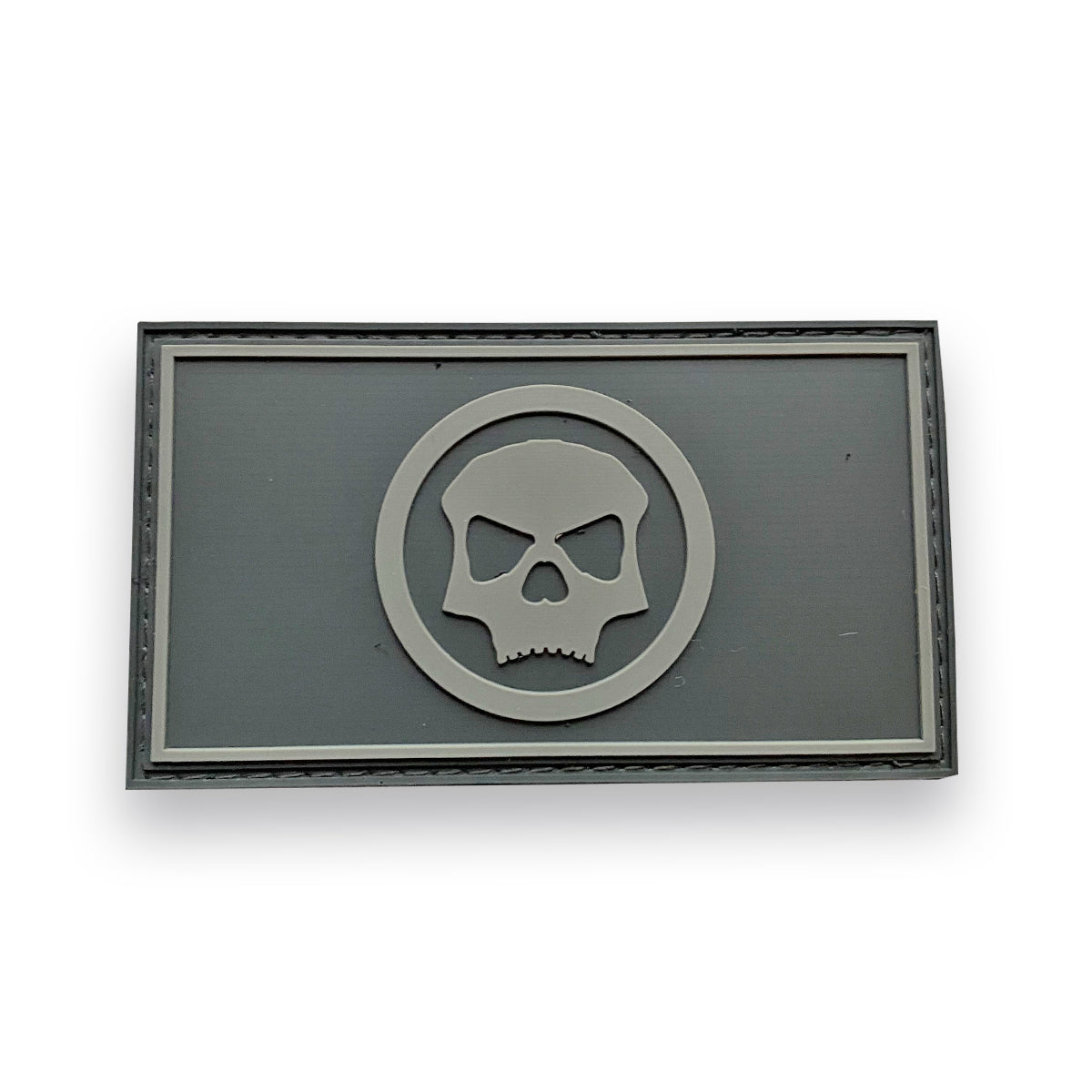 Circle Skull Full Patch - Grey