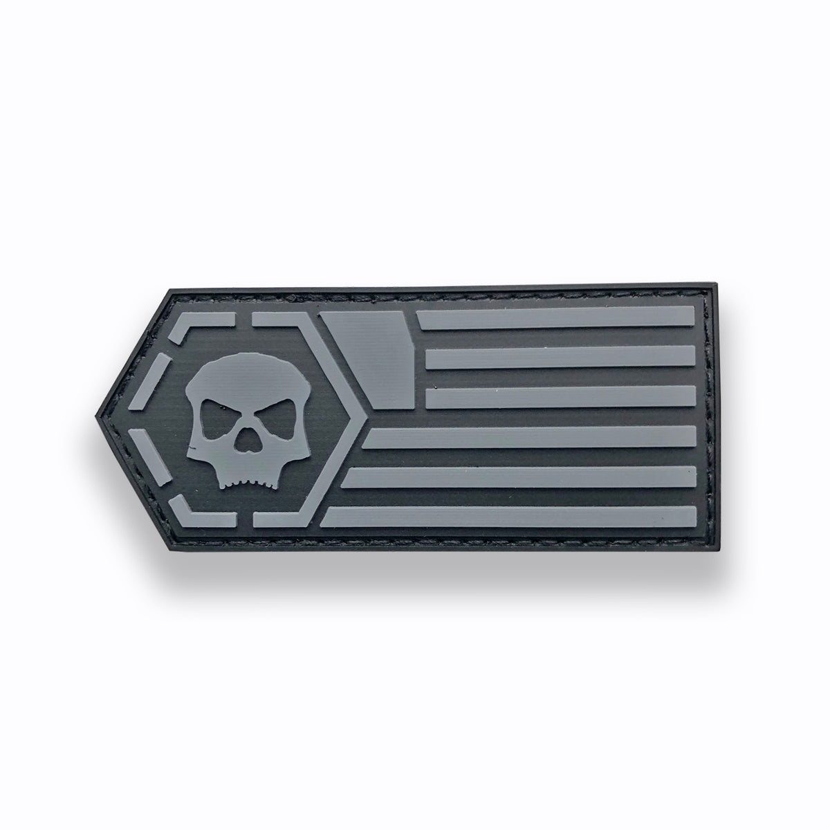 Infamous Skulls & Stripes Paintball Patch (3.5x1.5)