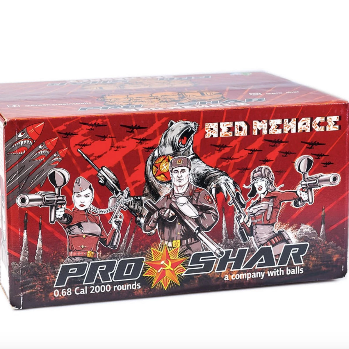 PROSHAR .68 Cal Red Menace Paintballs