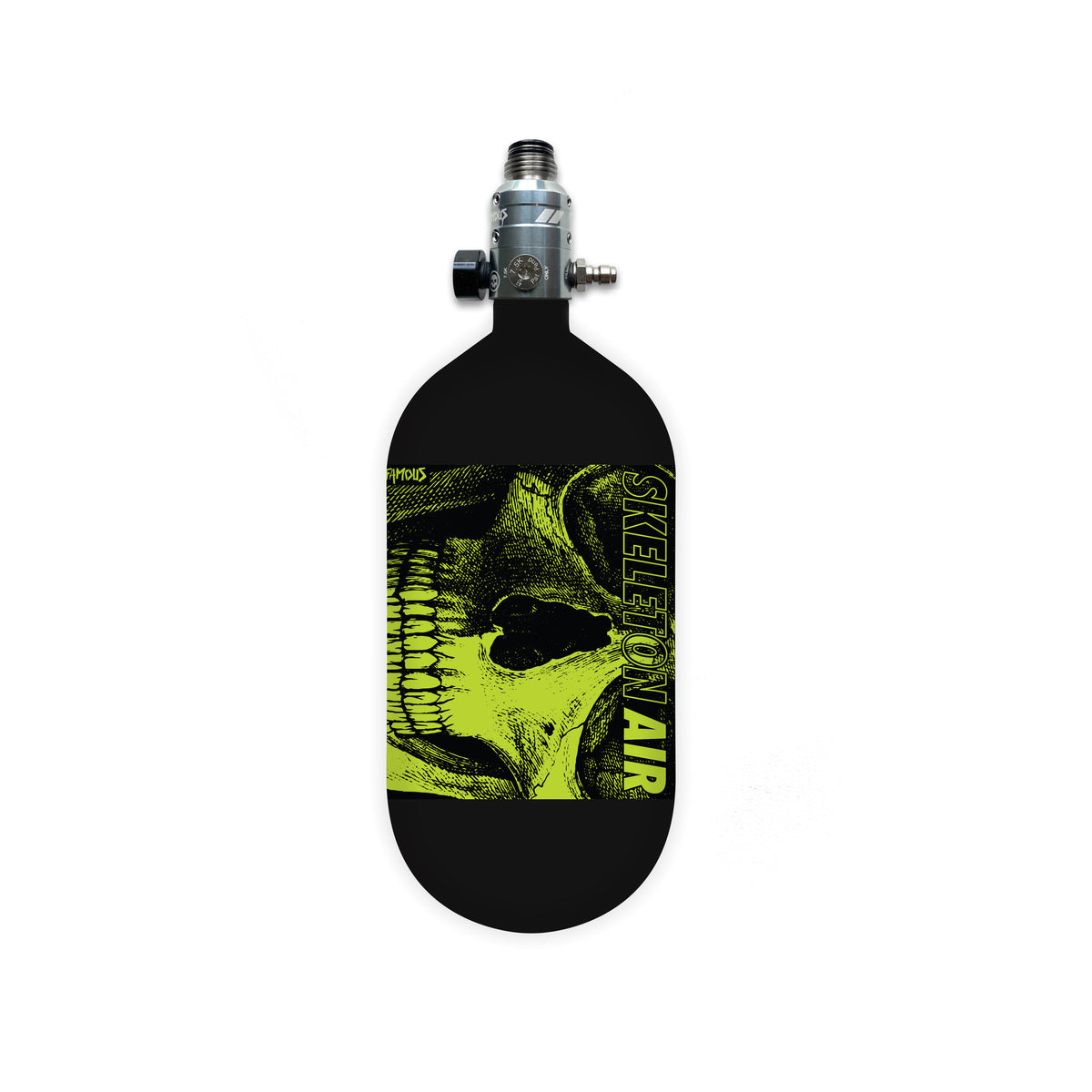 "Skeleton Air ""Hyperlight"" Tank w/ Haymkr 500 Reg - 80 ci / 4500 psi - Savage Skull"