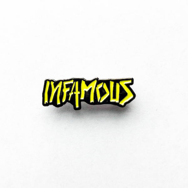 Custom Infamous Paintball Metal Pins