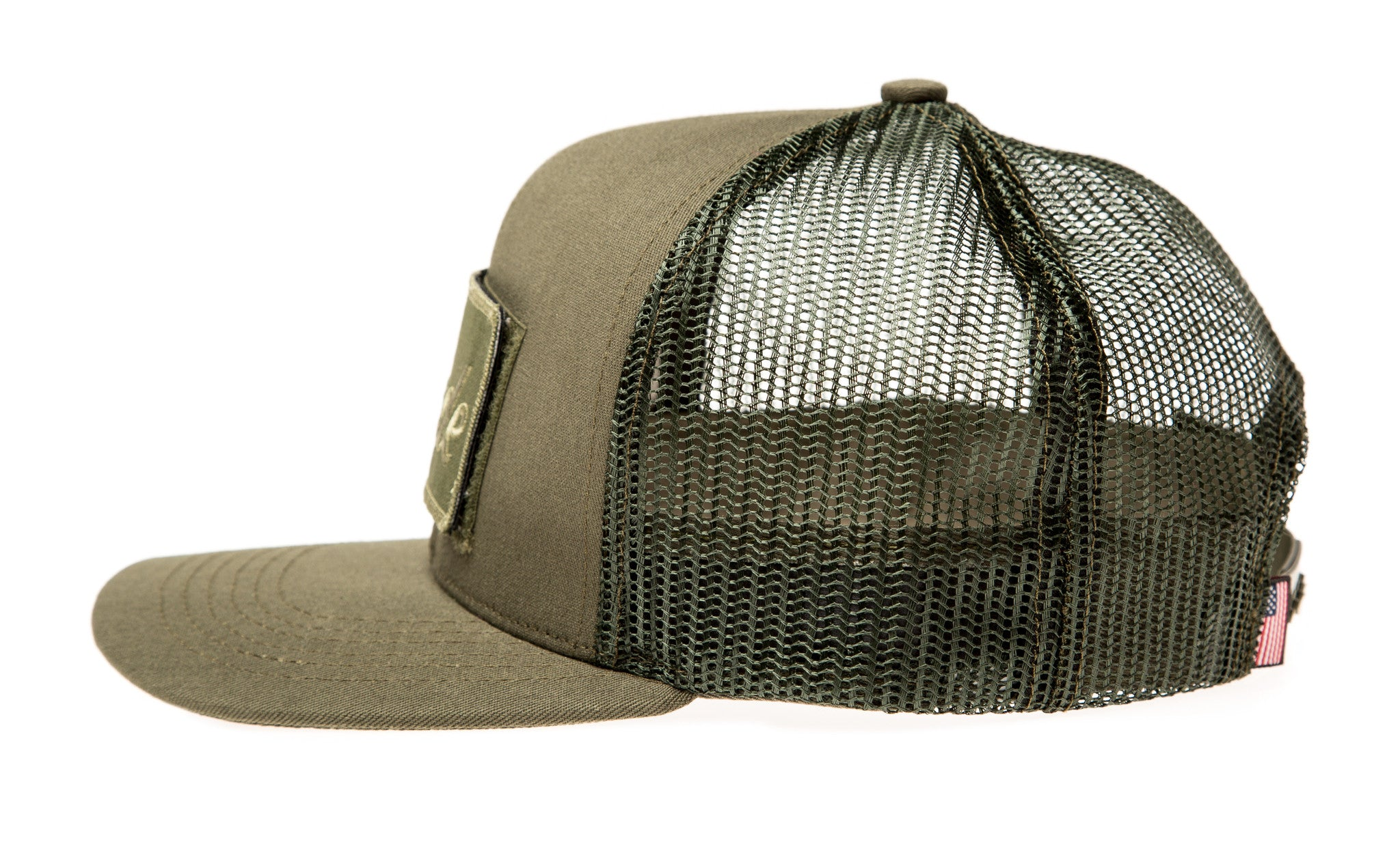 Army Green Trucker Hat (with Velcro patch) – Made Movement e93317b0eb6