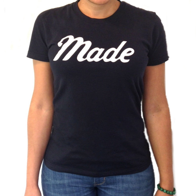 Women's Made T-Shirt (Navy)