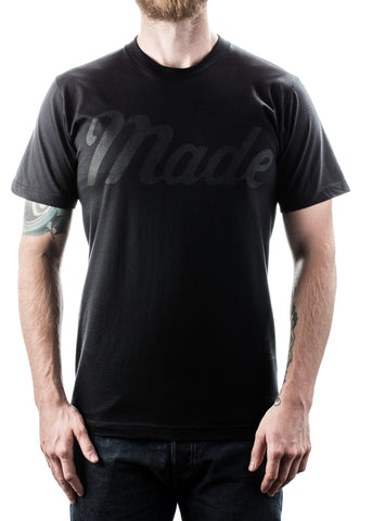 Made T-Shirt (Black on Black)