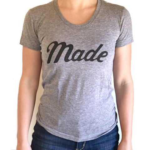 Women's Made T-Shirt (Gray)