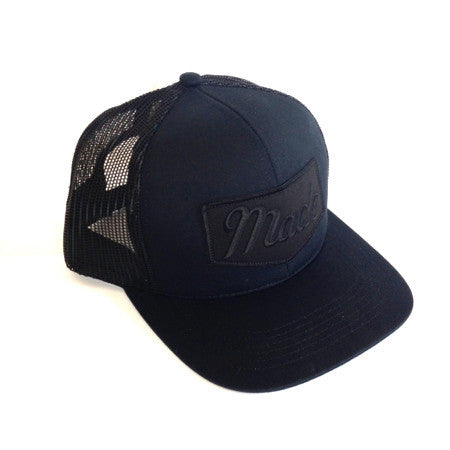 Black on Black Trucker Hat