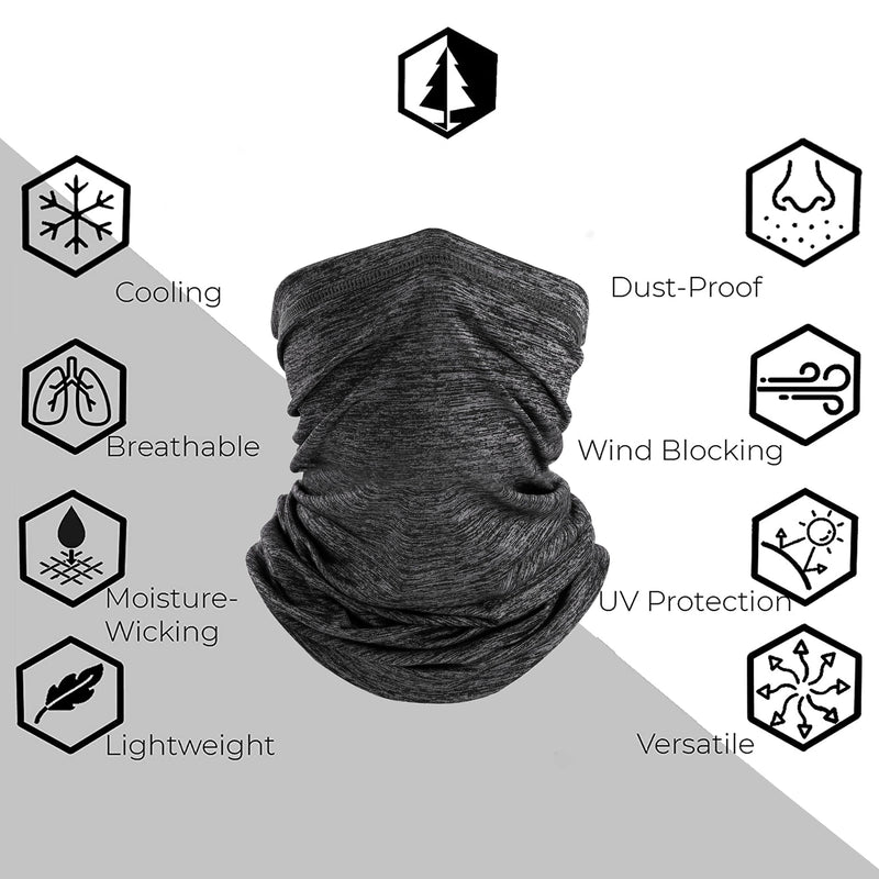 Varsoul Neck Gaiter Face Cover Scarf Dust Sun Protection Windproof, Breathable Fishing Hiking Running Cycling
