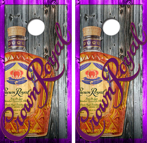 Crown Royal Canadian Whisky Cornhole Wood Board Skin Wrap
