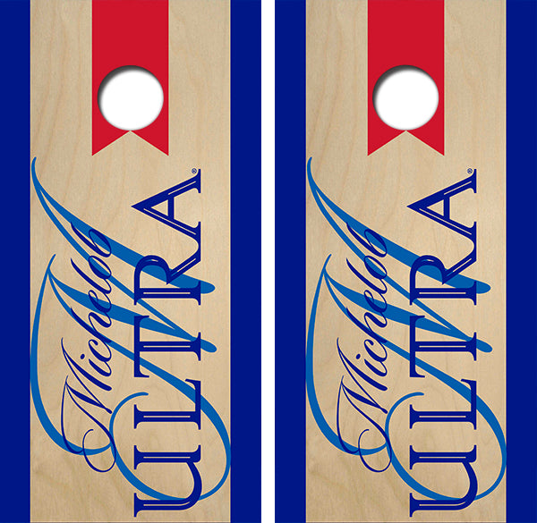 Michelob Ultra Cornhole Wood Board Skin Wraps FREE LAMINATE