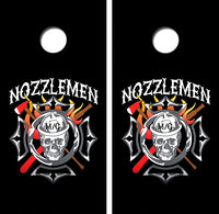 Nozzlemen Fire FIghters Cornhole Wood Board Skin Wrap