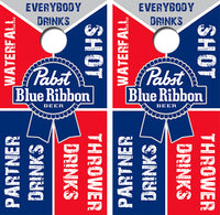 Pabst Drinking Game Cornhole Wood Board Skin Wrap