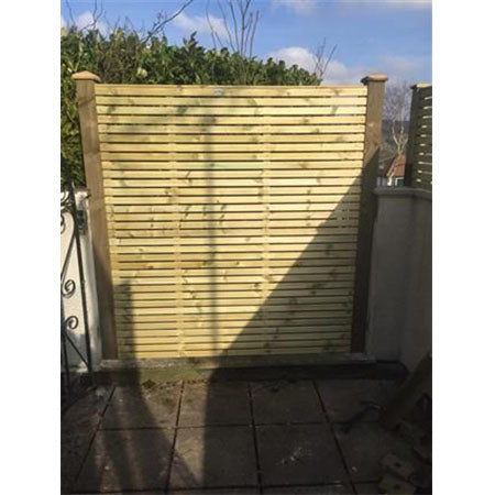 Contemporary Fence Panel - Single Sided