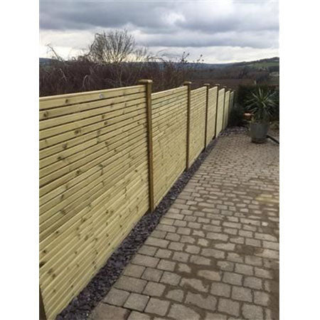 Contemporary Fence Panel - Double Sided