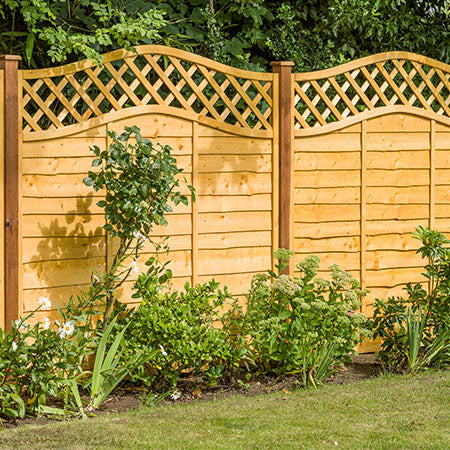 Superior lattice Top Lap Fence Panel 1.8 x 1.8m