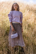 Stella + Gemma Skirt Pleated Leopard Pink Ombre-ohandcolimited