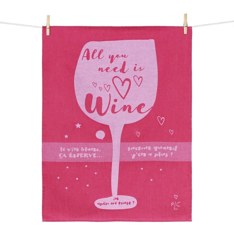 All You Need Is Wine Kitchen Towel