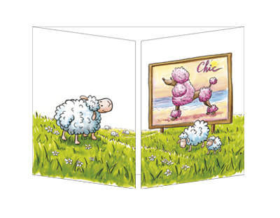 Trifold Chic Sheep