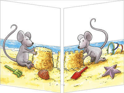 Trifold Mice on the Beach
